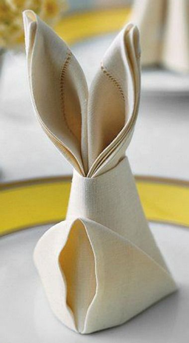 Napkin, Decorative, Easter Bunny, Easter, Table Decoration, Decoration, Bunny, Bunny Ears