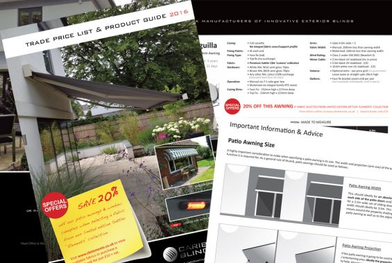 Awnings Canopies Trade Price List