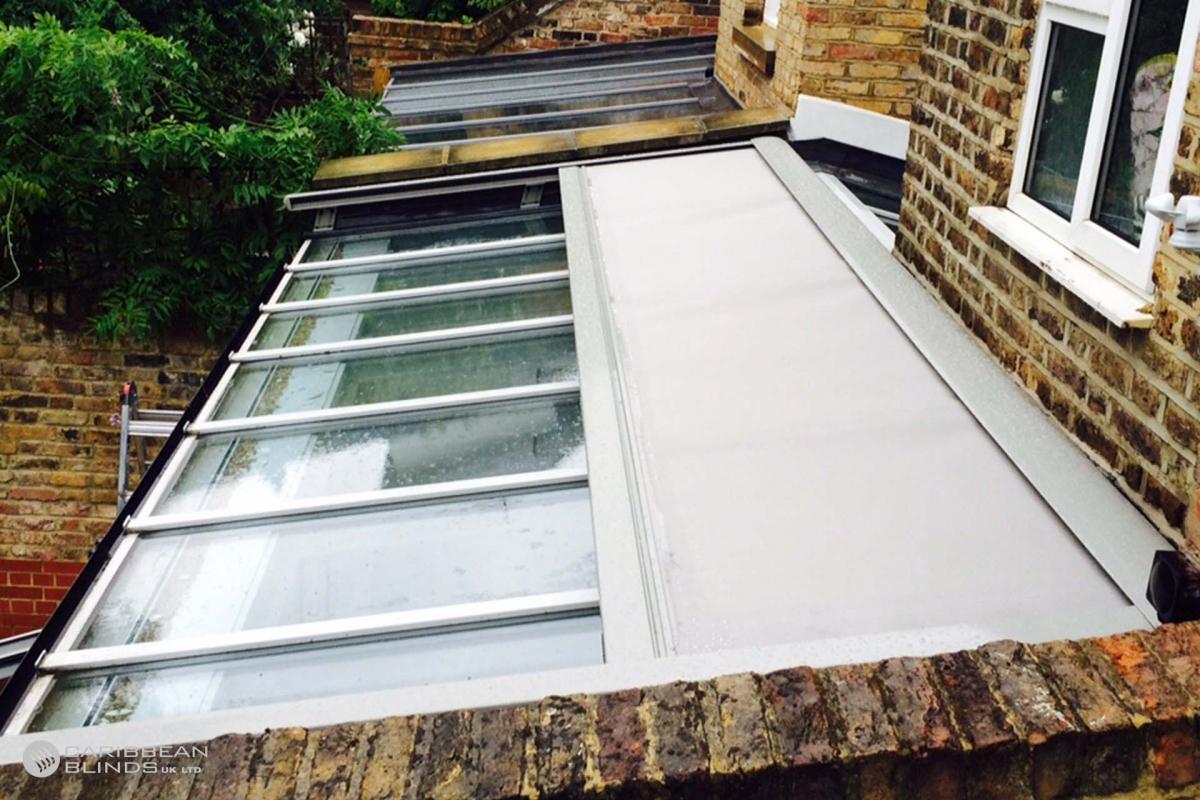 25 – Caribbean Blinds – Cayman External Roof Blind – Conservatory – Hampstead