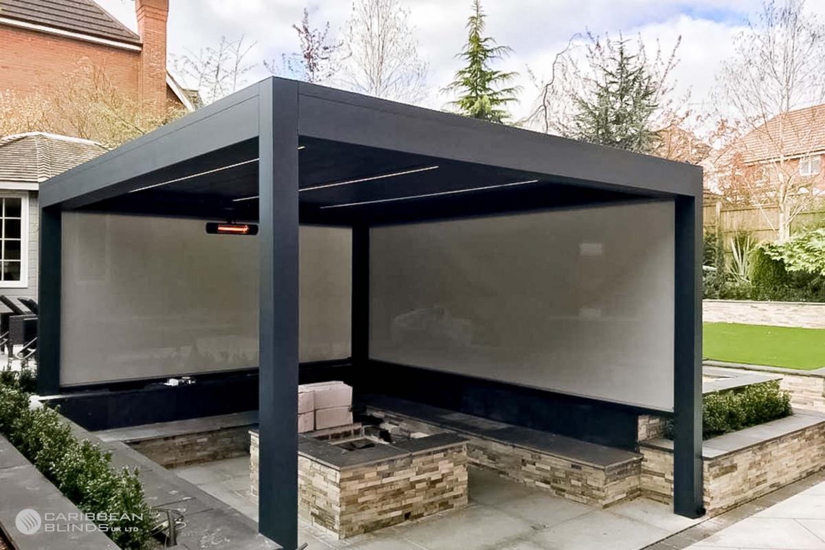 50 - Caribbean Blinds - Deluxe Outdoor Living Pod - Freestanding - Mansfield