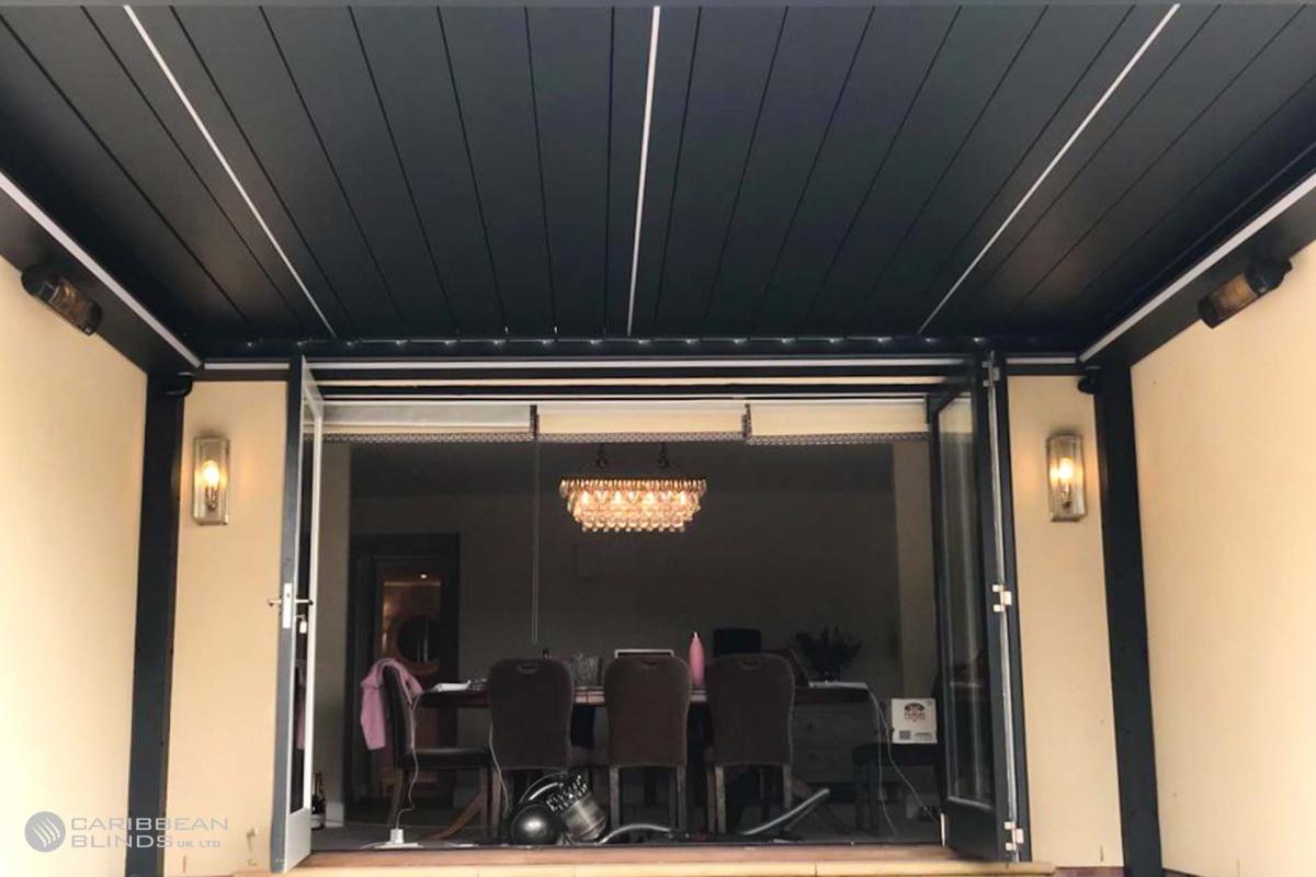 54- Caribbean Blinds - Deluxe Outdoor Living Pod - Freestanding - Shrewsbury