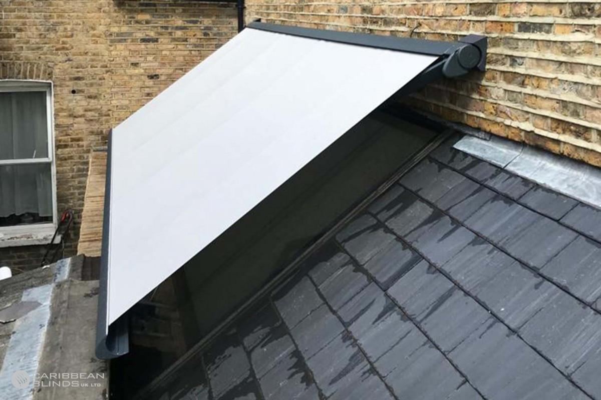 07 - Caribbean Blinds - Seamless Glass Roof - Tortola Patio Awning - London