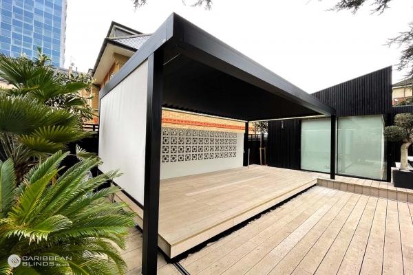 Louvered Roof | Outdoor Living Pod | Pergola | Canopy | Caribbean Blinds | Swim Spa | London